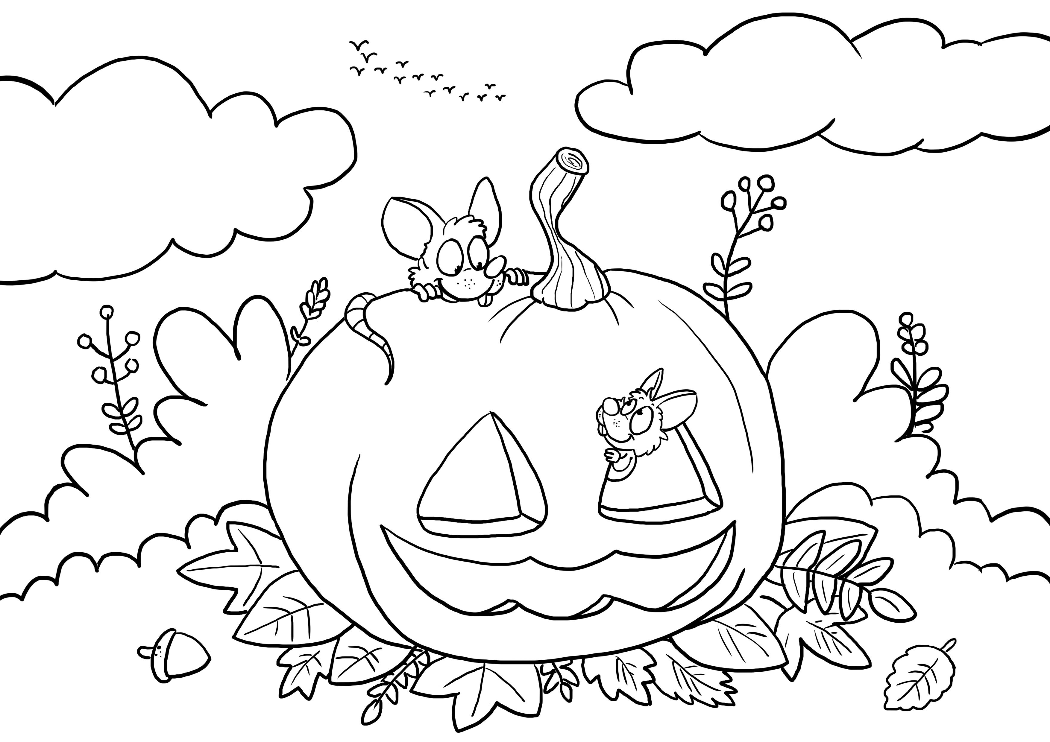 Ausmalbild Halloween Ecarfa4 Ecarf